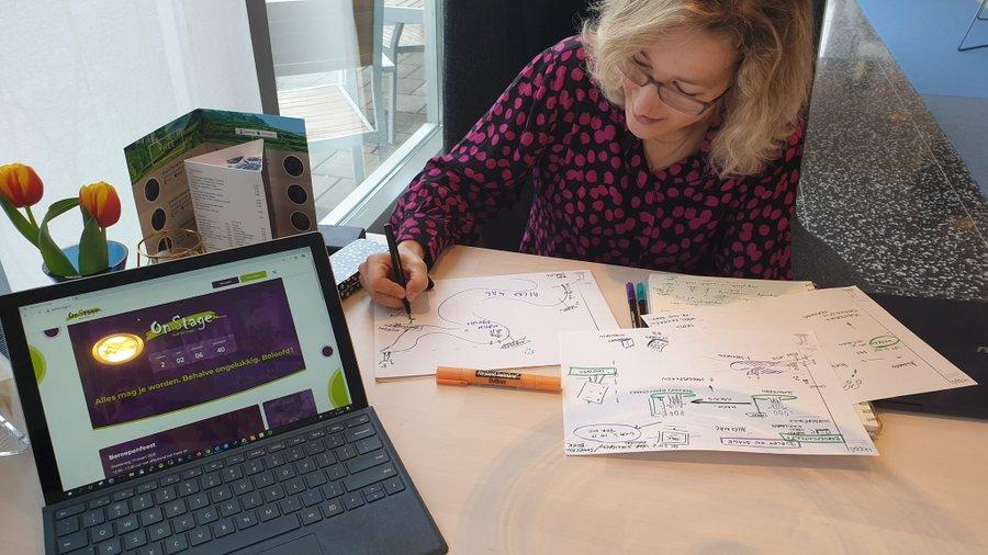 Hopps visual notes during meeting